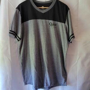 Element grey and black contrast t shirt